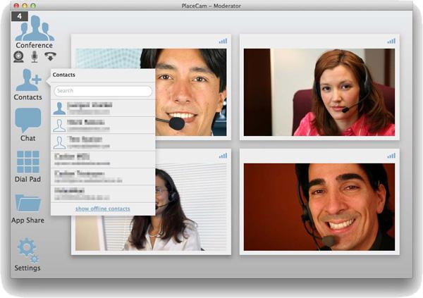Placecam auf einem Mac.